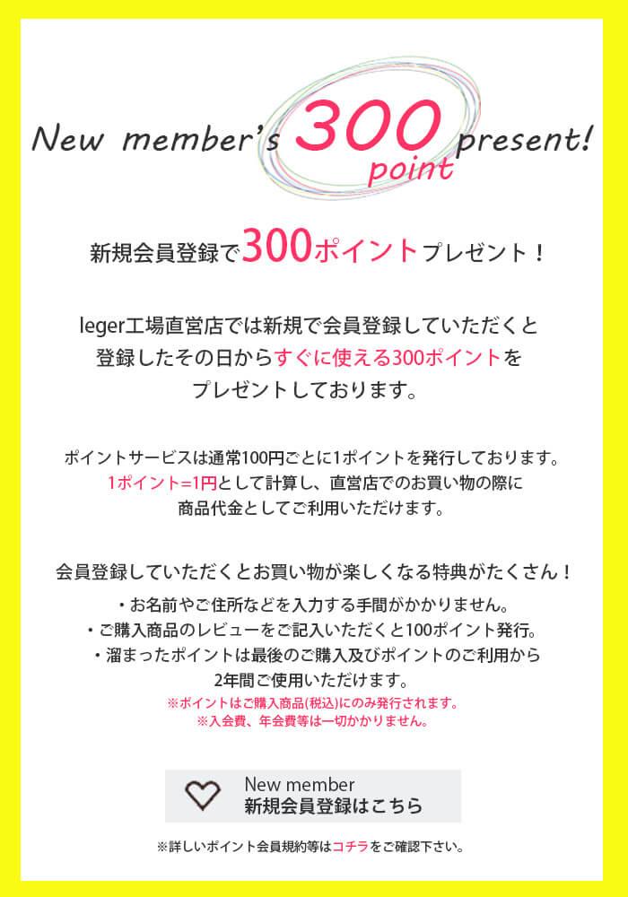 【チタンアクセサリー レジエ】新規会員登録で300ポイントプレゼント
